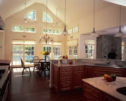 kitchen room amusing kitchen cabinets with high ceilings on full size of big country kitchen design brown cabinets beige granite countertop kitchen ceiling window chandelier
