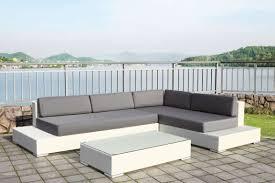 canapé de jardin design salon de jardin resine blanc design salon de jardin d angle en