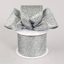 silver glitter ribbon 2 5 sparkle metallic glitter ribbon silver 10 yards xm415 4