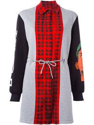 designer fashion sale moschino panelled sweatshirt dress clothing moschino shoes