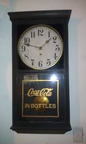 wood coca cola wall clock collectors weekly