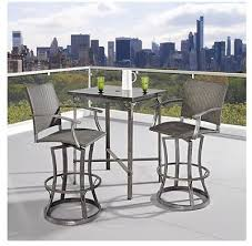 Patio Furniture Bar Set Outdoor High Bistro Table And Chairs Patio Furniture