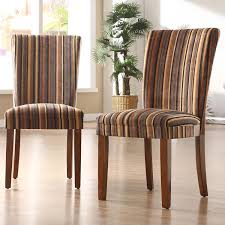 Striped Dining Room Chairs by Homelegance Print Dining Chairs Set Of 2