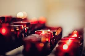 bokeh candlelight candles depth field wallpaper