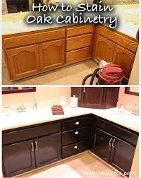 how to stain unfinished oak cabinets how to stain oak cabinetry tutorial the six fix