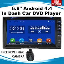 android in dash 6 8 android 4 4 in dash car dvd player stereo 2 din monitor gps