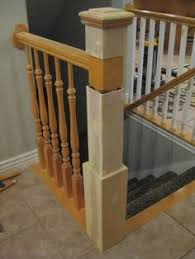 Newel Post To Handrail Fixing How To Connect Handrail At An Angle To A Newel Post Using The