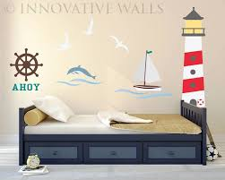 yacht sailing boat nautical marine vinyl wall art sticker decal wall decals murals baby kids teens nautical wall mural decals
