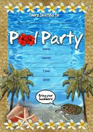 underwater themed pool party free online invitation card design