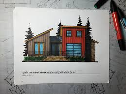 myles nelson mckenzie design tiny house 3 color rendering front