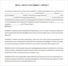 performance agreement contract vehicle contract agreement