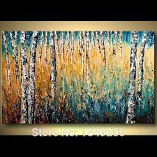 most popular high quality experienced painter 100 handpainted abstract trees oil painting forest landscape birch