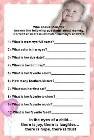 baby shower question who knows best baby shower questions baby shower ideas