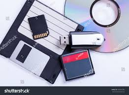 Storage Devices Selection Different Computer Storage Devices Data Stock Photo