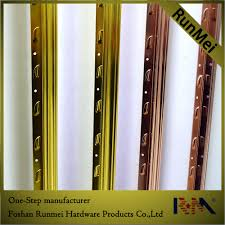 Metal Tile Transition Strip by Aluminum Wall Trim Decorative Metal Transition Strips Aluminum