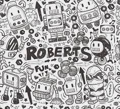 pattern drawing illustrator seamless robot pattern stock vector illustration of fashioned