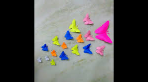 origami butterfly making paper butterfly craft for kids