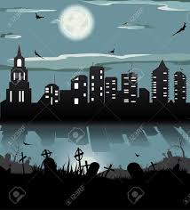 halloween night background bat grave gravestone graveyard
