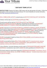 death obituary template death notice template obituary template