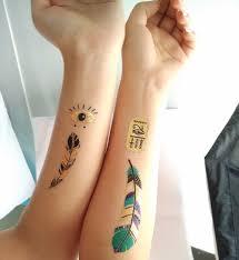 arti tato bulu merak premium boho logam tato 100 shimmer temporary tattoo desain bulu