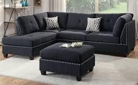 Reversible Sectional Sofa Sofas Bobkona Viola Polyfabric Reversible Sectional Sofa