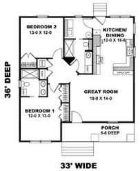 Small Guest House Floor Plans Backyard Bungalow By William E Poole 952 Sq Ft Mother In Law