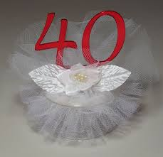 l cake topper 40th wedding anniversary cake topper kitchen dining