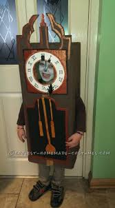 coolest homemade clock costumes