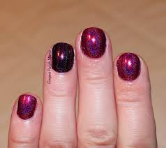 fingers polish mania super stamping holo freak ilnp black orchid