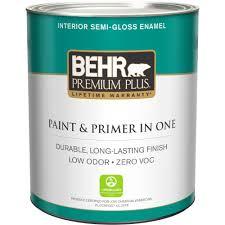 behr premium plus 1 qt ultra pure white semi gloss enamel zero