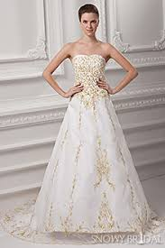 white wedding dress with gold beading gold wedding dresses and ivory gold wedding dresses snowybridal
