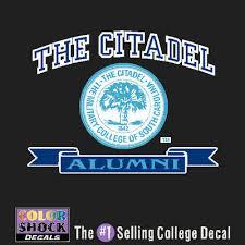 alumni decal the citadel bookstore colorshock alumni decal