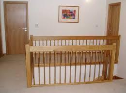 Landing Banister Oak Staircase European Style Handrails