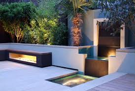 Modern Patio Lighting Amazing Modern Garden Design With Led Outdoor Lighting Ideas And
