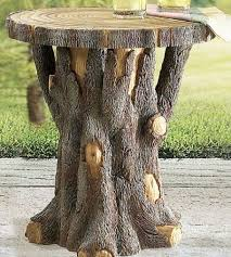 Tree Trunk Table Tree Trunk Table Making These From The Pine Trees That My