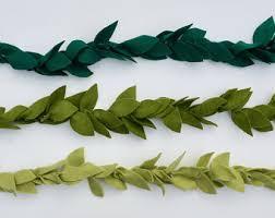green leaf garland etsy