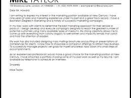 20 cover letter of job sample cover letter for a marketing job