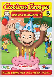 curious george birthday party curious george goes to a birthday party frank welker