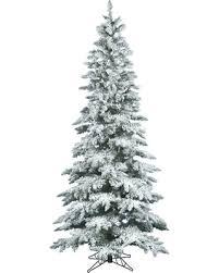 get the deal 6 5 ft vickerman flocked slim utica fir tree