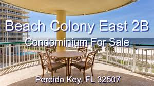 beach colony east condo 2b perdido key youtube