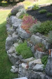 Rock Garden Wall Rock Garden On Retaining Wall Pinteres