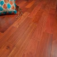 prefinished solid santos mahogany hardwood flooring at cheap