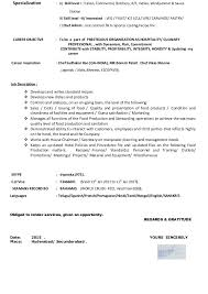 sle chef resume chef cover letter resume template paasprovider
