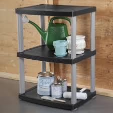 Shelves by Sterilite 3 Shelf Unit Black Walmart Com