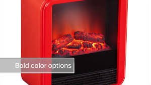 fasser electric fireplace in red orange by holly u0026 martin youtube