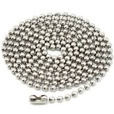 stainless steel ball necklace images Long stainless steel ball chain jpg
