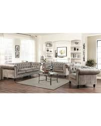 Grey Velvet Sofas Get The Deal 11 Off Abbyson Grand Chesterfield Gray Velvet Sofa Set