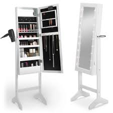 Vanity Organizer Ideas by Furniture U0026 Accessories White Wooden Jewelry Armoire Makeup