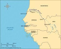 Senegal Map Senegal River Map Of Africa