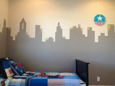 gotham city mural on the small wall city scape pinterest
